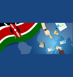 Kenya economy fiscal money trade concept vector