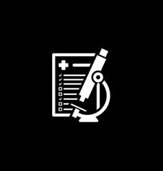 Laboratory analysis icon flat design vector