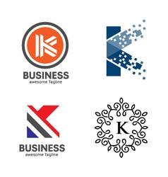 Letter K logo set vector image vector image