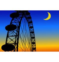 Luna park amusement park vector