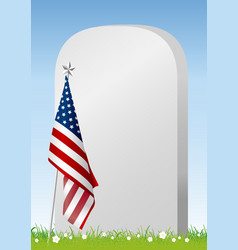 memorial day on american flag background vector image