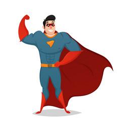 muscular man dressed in superhero costume vector image vector image