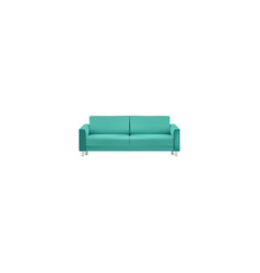 realistic couch element of vector image