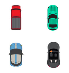 Top view vehicles vector