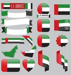 United arab emirates flags vector
