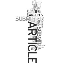 Yes you need an article submitter text word cloud vector