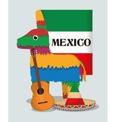 Mexico culture and landmark design vector