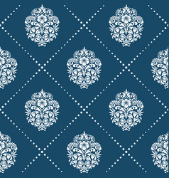 Pattern in style victorian baroque vector
