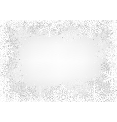 White snowflakes background vector
