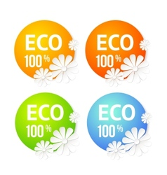 Eco banner of flower vector image