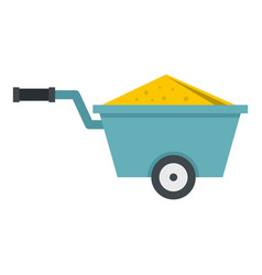 wheelbarrow full of sand icon isolated vector image