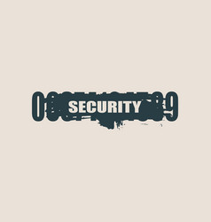 Protection concept security system vector
