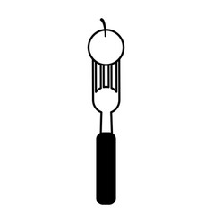 Fork with food icon image vector
