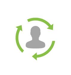 Staff rotation icon pictogram vector