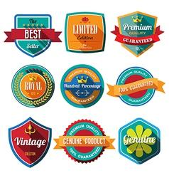 Set of retro vintage badges and labels Flat design vector image