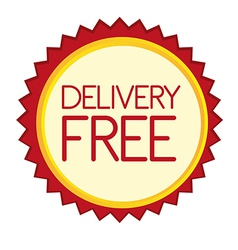 Delivery free tag vector