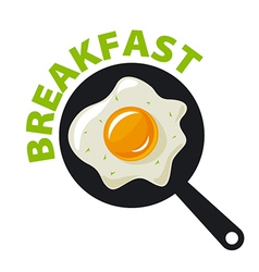 Logo fried eggs for breakfast vector