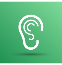 Ear icon listen hear deaf human sign vector