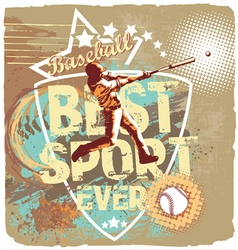 baseball league sport vector image
