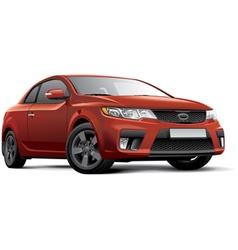 Korean compact coupe vector image