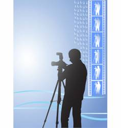 Digital photographer vector
