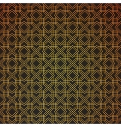 Gold geometric retro abstract seamless cube vector