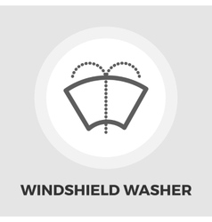 Windsield washer flat icon vector