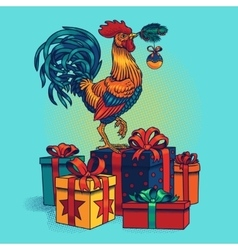 a rooster vector image