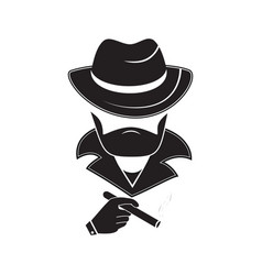 a stranger in a hat holds a cigarette in his hand vector image
