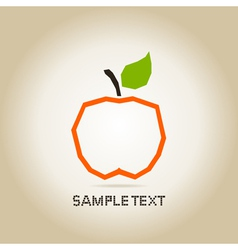 Apple orange vector image vector image