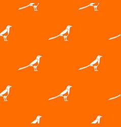 Bird magpie pattern seamless vector