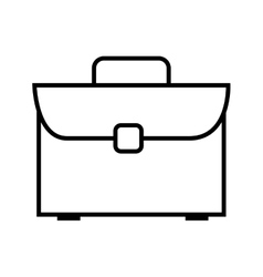 briefcase bussiness accessory vector image