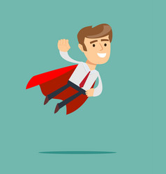 business hero or superhero flying vector image
