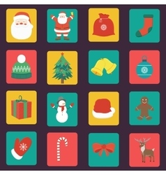 Christmas Icons set Flat design vector image