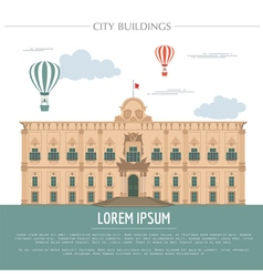City buildings graphic template grand master vector
