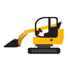 Crawler loader vehicle icon vector