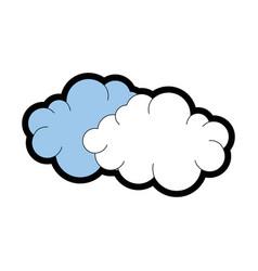 Cute cloud cartoon vector