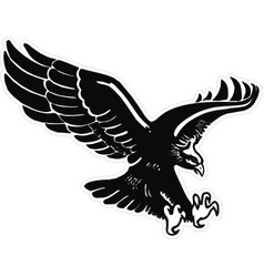 eagle with wings and claws vector image