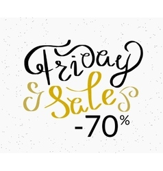 Friday sale hand made script design template vector image vector image
