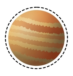 Isolated planet design vector image vector image