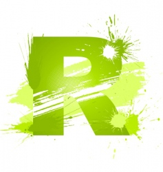 Letter R background vector image vector image