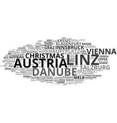 Linz word cloud concept vector
