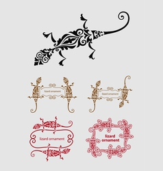 Lizard ornament decoration vector image vector image
