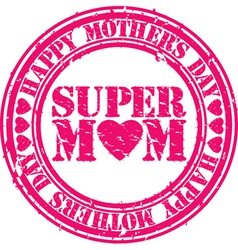 Mothers day grunge stamp vector image