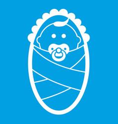 newborn icon white vector image