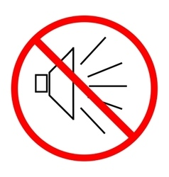 No noise sign in red circle on white background vector
