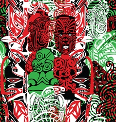 Pattern with the style of maori vector