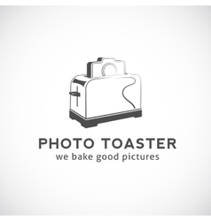 Photo Toaster Abstract Logo Template vector image