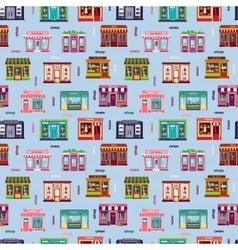 Shop facade pattern vector