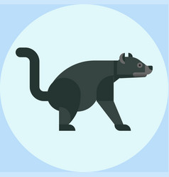 Tasmanian devil baring its teeth australia nature vector